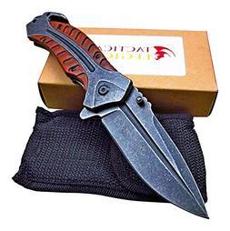 Large Heavy Duty Folding Pocket Knife - Razor Sharp Blade -