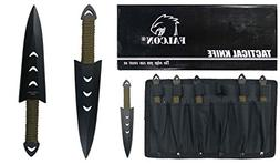 "Falcon Throwing Knife Set 6"" with Sheath"