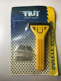TUFF HAND TOOLS SAFETY SCRAPER w/ 5 razor blades, brand new