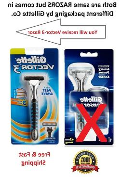 Gillette V3 Razor Handle Fits Sensor 3 Excel Men Women blade
