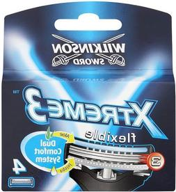 Wilkinson Sword Xtreme3, 4 Count Refill Blades