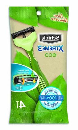 Schick Xtreme 3 Eco Men's Disposable Razor, 4 Count