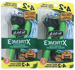 Schick Xtreme3 Mens Sensitive Disposables, Light Green, 40 R