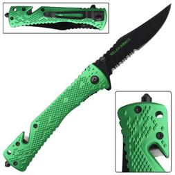 zombie killer green folding pocket