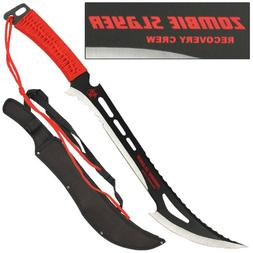 ZOMBIE SLAYER Recovery Crew Sword Knife Machete WICKED